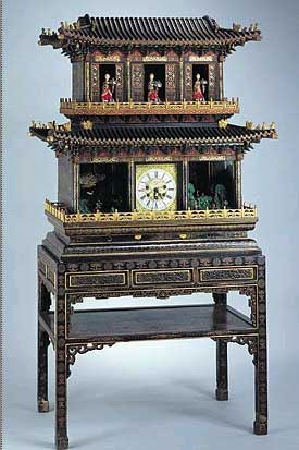 A Magnificent Automaton Clock, with English Clock Movement, in the Forbidden City Museum, Beijing.