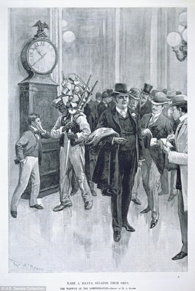The Old Senate Clock in an early 20th century print.