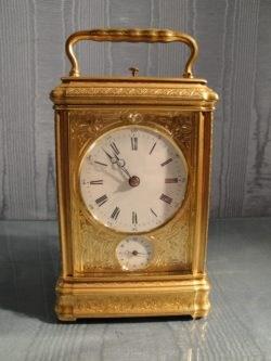 French Carriage Clock by Drocourt, circa 1875. Raffety Clocks