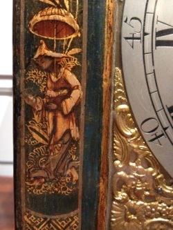 Detail of Lacquerwork on the Parker Bracket Clock. Raffety Ltd.