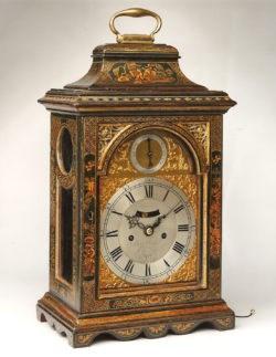Sea Green Lacquer Bracket Clock by John Parker of Greenwich, circa 1770. Raffety Ltd.