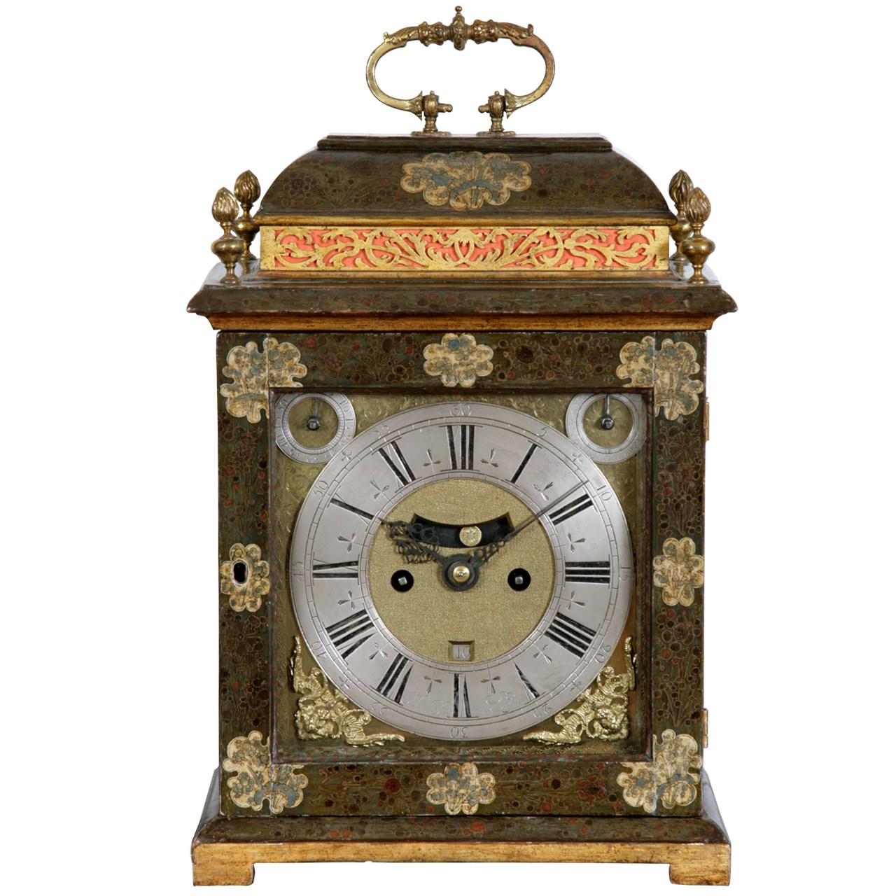 Lacquer Bracket Clock by Simon du Charmes. Circa 1695. Raffety Ltd.