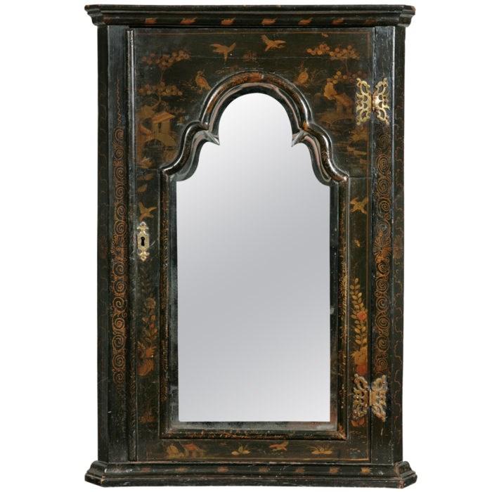 Queen Anne Period Lacquered Corner Cabinet. Raffety Ltd.