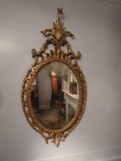 Chippendale Period Oval Mirror. Circa 1760. Raffety Ltd