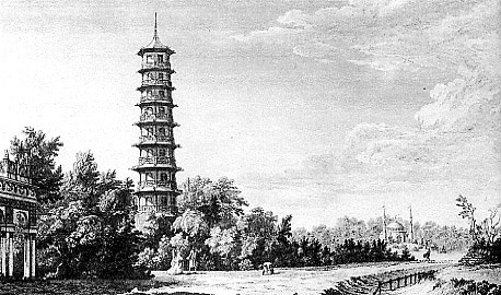The Chines Pagoda at Kew. After a Drawing by William Chambers