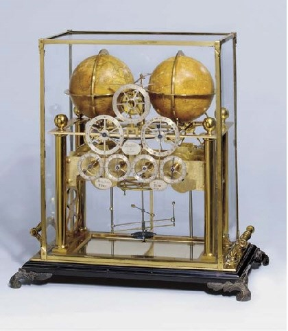 The Celestial and Terrestrial Clock by James Gorham. Photo copyright Christie's.