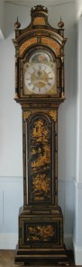 A Lacquered Longcase Clock by John Monkhouse, London. Circa 1760s. To be shown at Design Shanghai. Raffety Ltd.