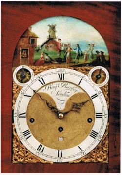Detail of Musical Automata Bracket Clock by John Barber, circa 1770-1775. One of the clocks to be shown at Design Shanghai. Raffety Ltd.