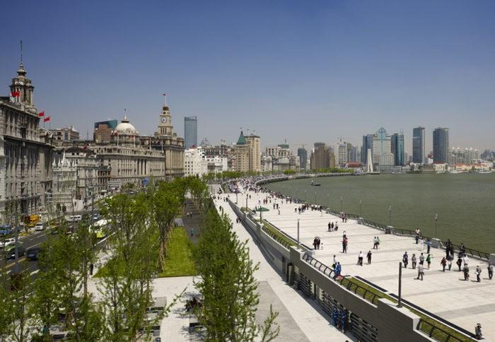 The Famous Bund in Shanghai.