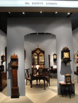 Raffety Clocks stand B16 at Masterpiece Fair, 2013. Photo by Stephen Wild