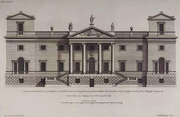 Design for Houghton Hall by Colen Campbell.