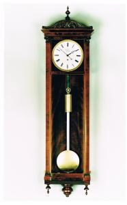 An Austrian regulator timepiece with mahogany case by Brutmann in Wien. Circa 1850. Raffety Ltd
