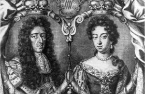 Print of King William III and Queen Mary II, who created Kensington Palace. Copyright: Historic Royal Palaces