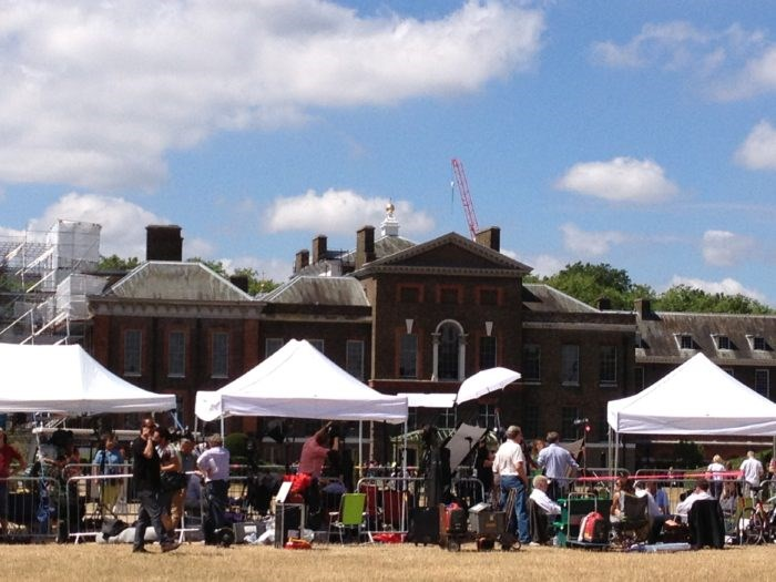The World's Media Camped Outside Kensington Palace after the Birth of Prince George of Cambridge. Photo: Raffety Clocks