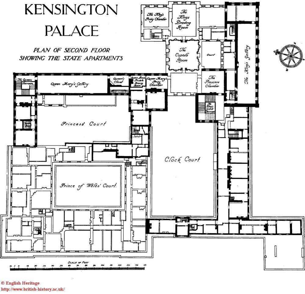 Plan of Kensington Palace. Copyright Survey of London