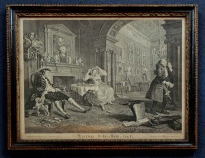 William Hogarth, Marriage a la Mode, plate 2. Circa 1745. Courtesy Isaac & Ede, London.