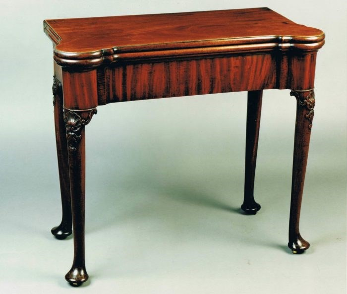 George II mahogany games table, circa 1740. Raffety Ltd.