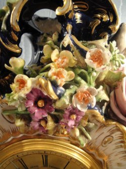 Detail of flowers on the clock by Adam Thomson,