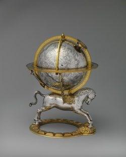 Celestial Globe with clockwork by Gerhard Emmoser, c.1579.