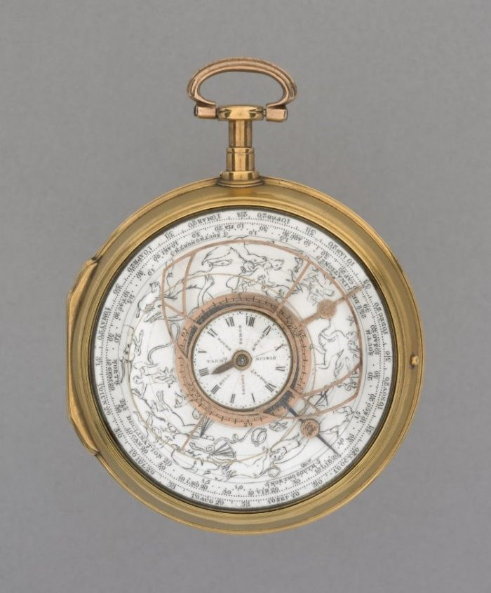 Watch with Astronomical details by George Margetts. British Museum accession number 1898.1217.1. Copyright the Trustees of the British Museum.
