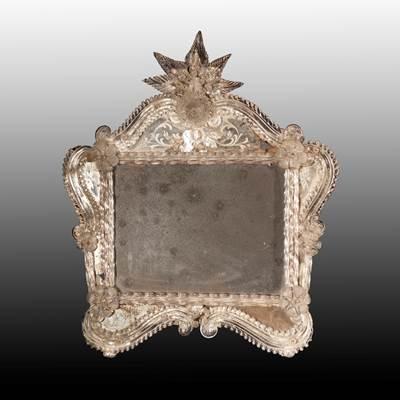 A Murano engraved mirror, Murano, Venice, 19th century